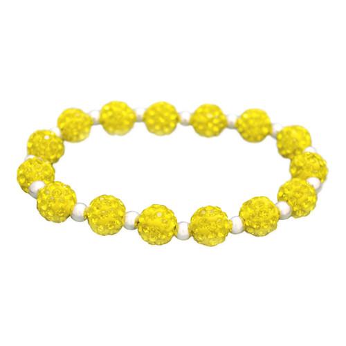 Yellow My Team Bling Stretch Bracelet