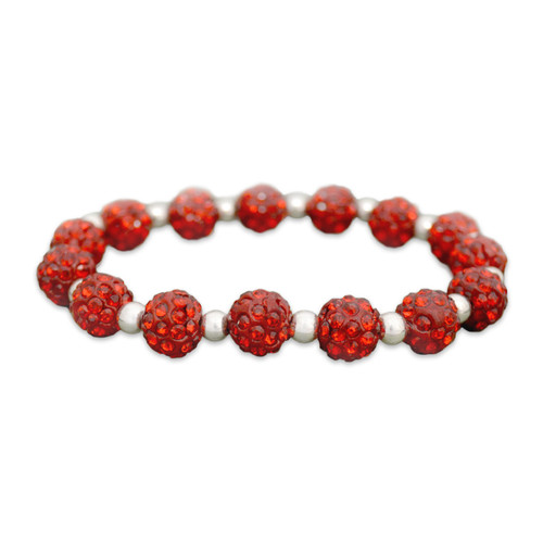 Red My Team Bling Stretch Bracelet