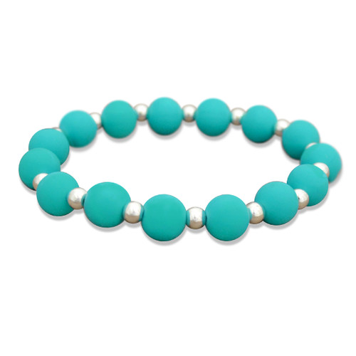 Zoey Silicone Stretch Bracelet-  Turquoise
