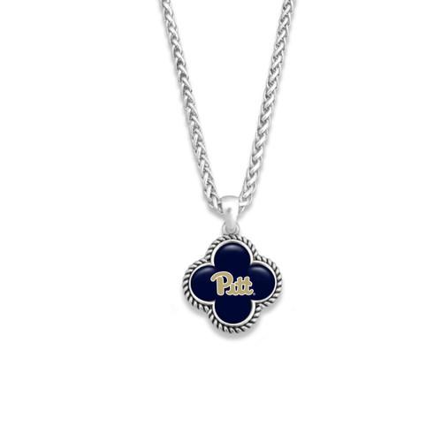 High School Necklace- Quatrefoil Charm