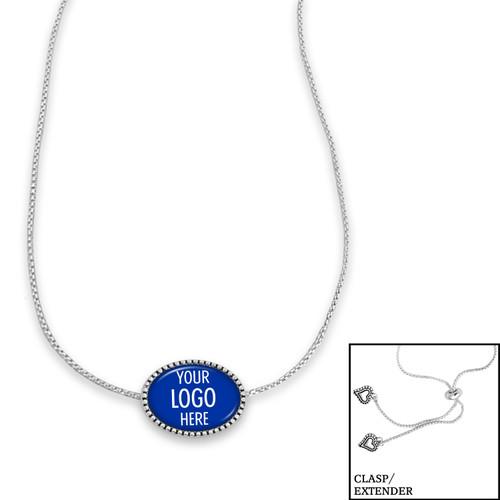 High School Necklace/Choker- Kennedy (Adjustable Slider Bead)