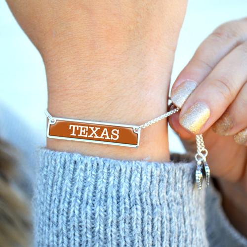 High School Bracelet- Nameplate (Adjustable Slider Bead)