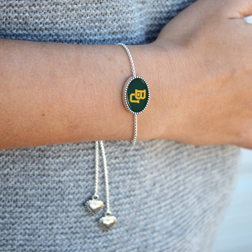 Custom, Souvenir, or Logo Bracelet- Kennedy (Adjustable Slider Bead)