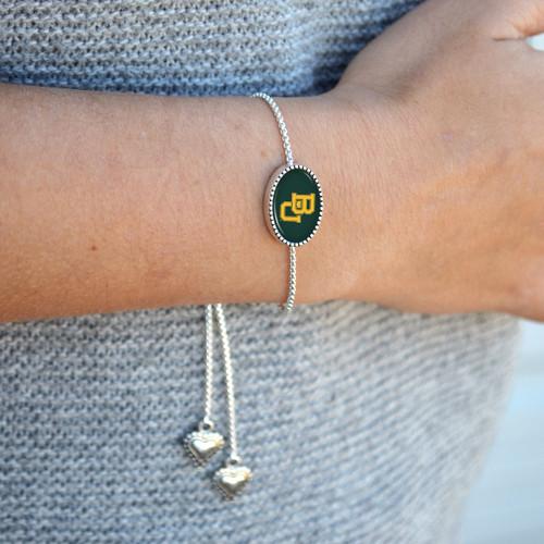Kennedy Custom, Souvenir, or Logo Slider Bead Bracelet