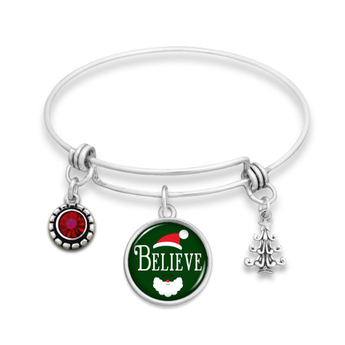 Believe Christmas Collection- Believe Wire Bangle Bracelet
