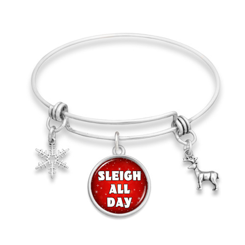 Believe Christmas Collection- Sleigh All Day Wire Bangle Bracelet