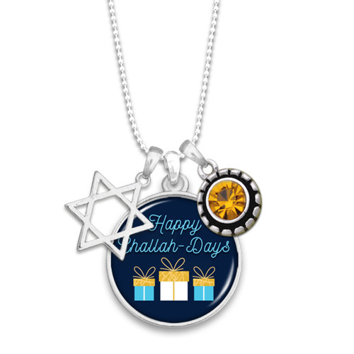 Happy Challah-Days Necklace