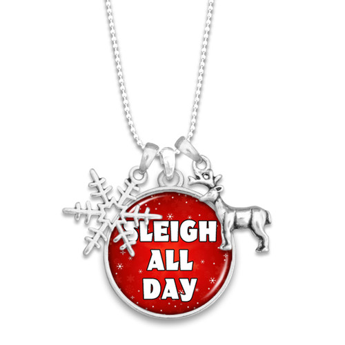 Believe Christmas Collection- Sleigh All Day Necklace