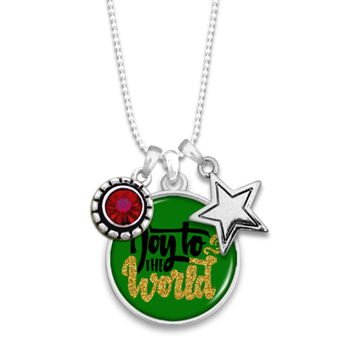 Believe Christmas Collection- Joy To The World Necklace