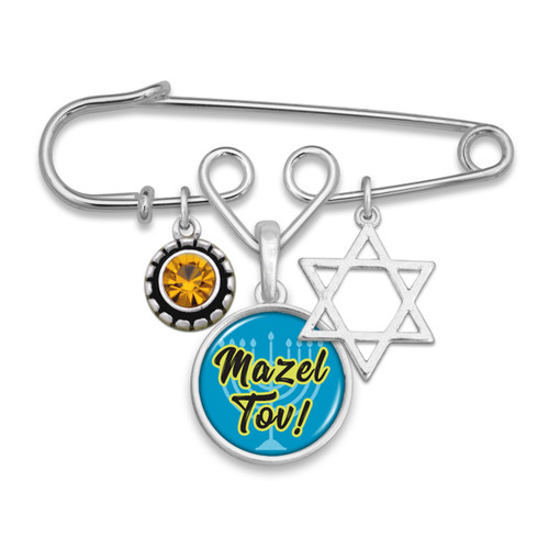 Mazel Tov Brooch Pin