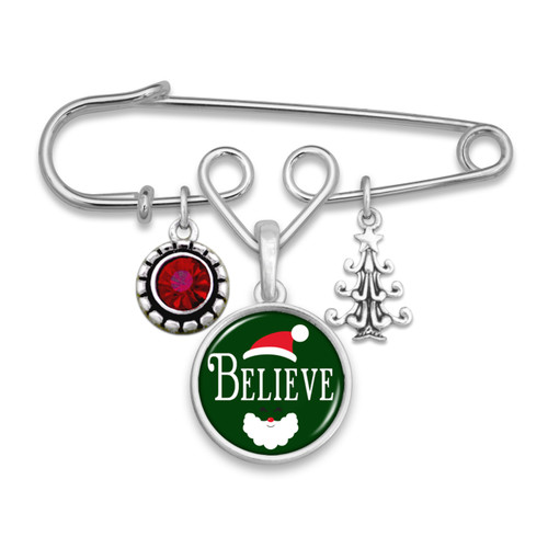 Believe Christmas Collection- Believe Brooch Pin