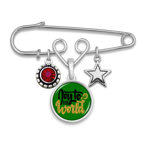 Believe Christmas Collection- Joy To The World Brooch Pin
