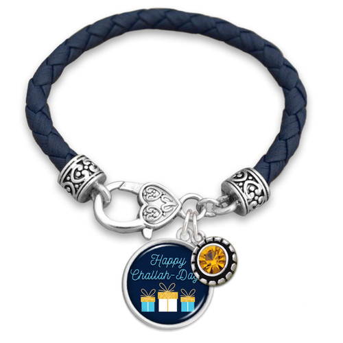 Happy Challah-Days Leather Bracelet