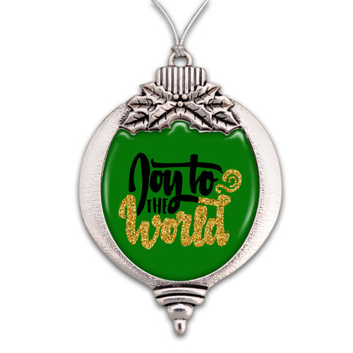 Believe Christmas Collection- Joy To The World Christmas Ornament