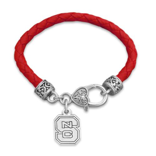 *Choose Your College* Bracelet- Team Color Harvey Leather