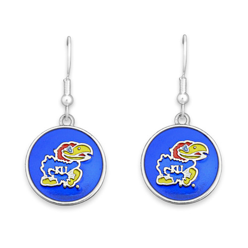 Kansas Jayhawks Society  Earrings