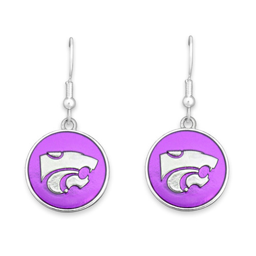 Kansas State Wildcats Society  Earrings