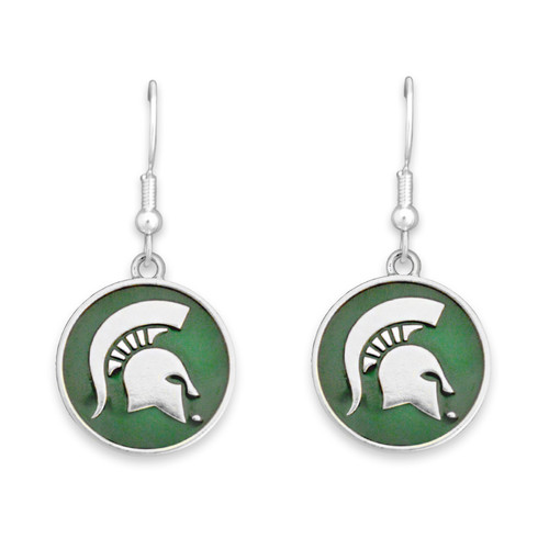 Michigan State Spartans Society  Earrings