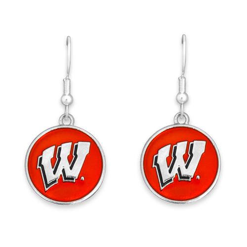 Wisconsin Badgers Society  Earrings