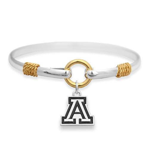 Arizona Wildcats Two Tone Rope Bangle Bracelet