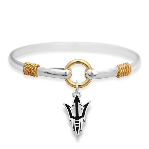 Arizona State Sun Devils Two Tone Rope Bangle Bracelet