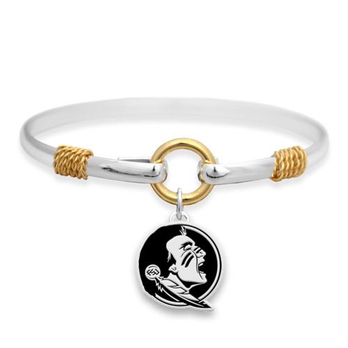 Florida State Seminoles Two Tone Rope Bangle Bracelet
