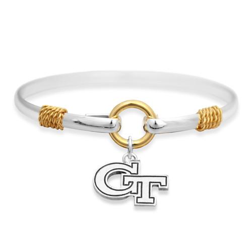 Georgia Tech Yellow Jackets Two Tone Rope Bangle Bracelet