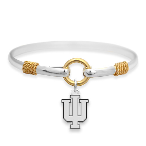 Indiana Hoosiers Two Tone Rope Bangle Bracelet