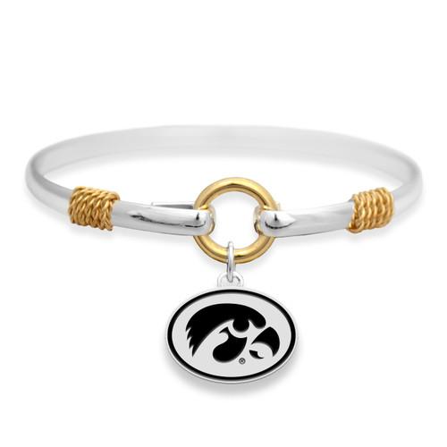 Iowa Hawkeyes Two Tone Rope Bangle Bracelet