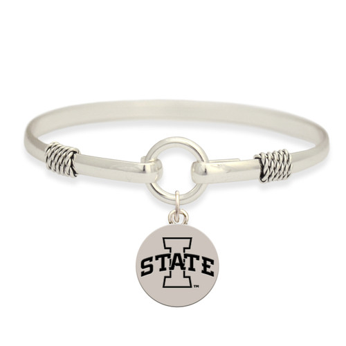 Iowa State Cyclones Two Tone Rope Bangle Bracelet