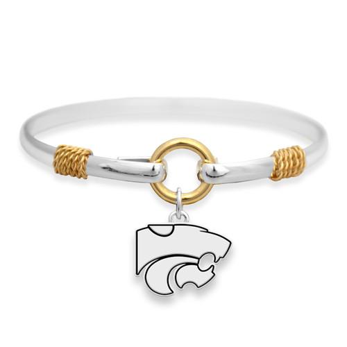 Kansas State Wildcats Two Tone Rope Bangle Bracelet