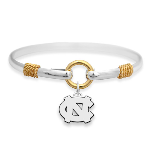 North Carolina Tar Heels Two Tone Rope Bangle Bracelet