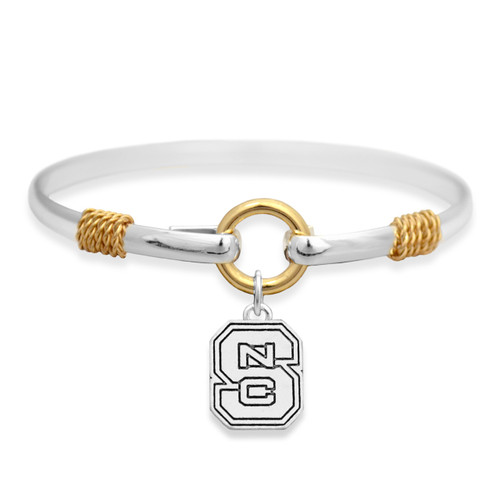 NC State Wolfpack Two Tone Rope Bangle Bracelet