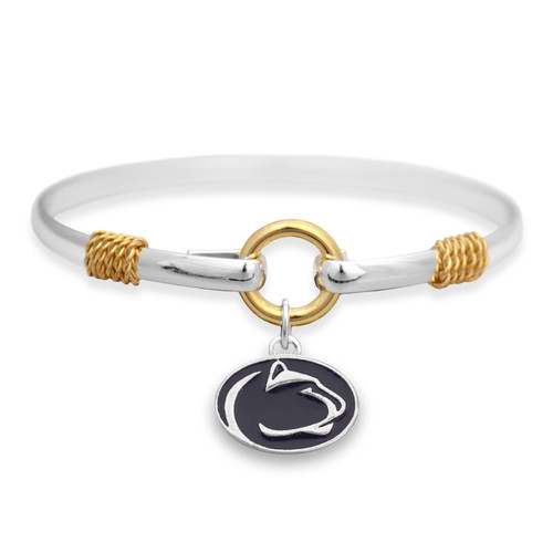 Penn State Nittany Lions Two Tone Rope Bangle Bracelet
