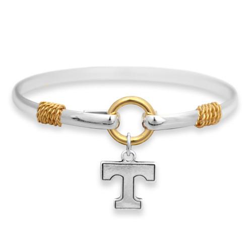 Tennessee Volunteers Two Tone Rope Bangle Bracelet