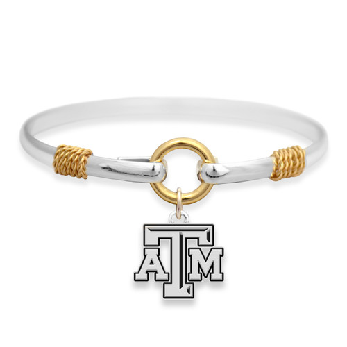 Texas A&M Aggies Two Tone Rope Bangle Bracelet
