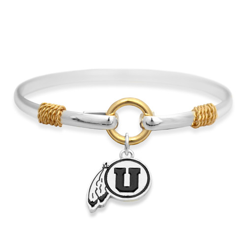 Utah Utes Two Tone Rope Bangle Bracelet