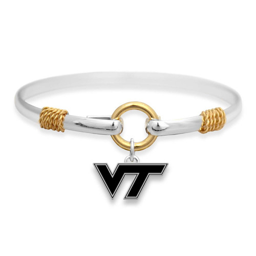 Virginia Tech Hokies Two Tone Rope Bangle Bracelet
