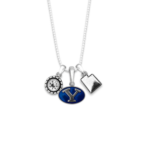 BYU Cougars Home Sweet School Necklace