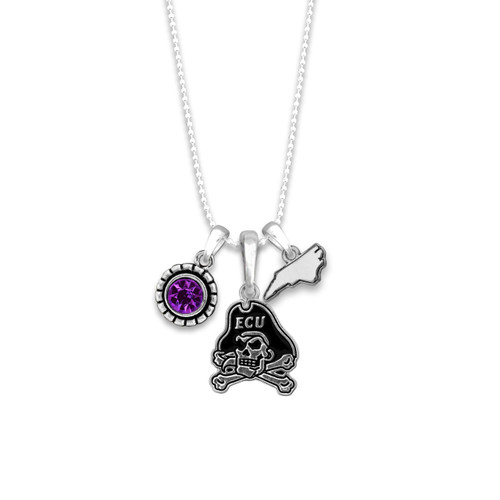 East Carolina Pirates Home Sweet School Necklace