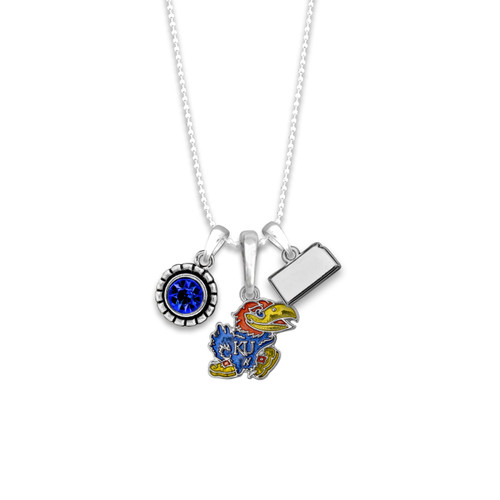 Kansas Jayhawks Home Sweet School Necklace