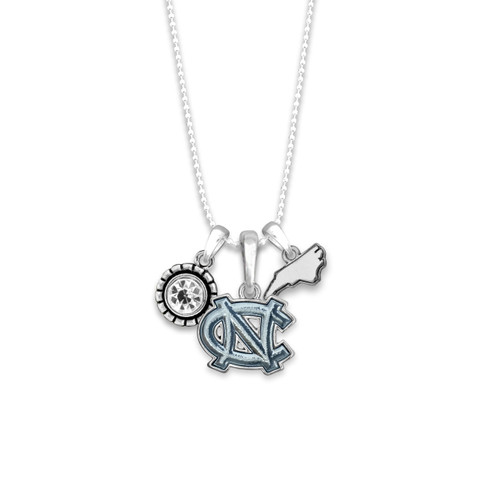 North Carolina Tar Heels Home Sweet School Necklace