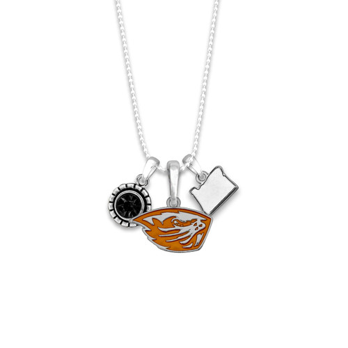 Oregon State Beavers Home Sweet School Necklace