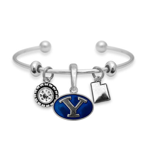 BYU Cougars Home Sweet School Cuff Bracelet