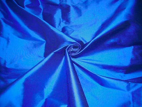 Royal Blue 100% Authentic Silk Fabric