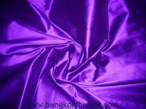 Dark Royal Purple 100% Authentic Silk Fabric