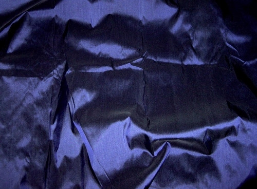 Dark Blue - 100% Authentic Silk Fabric