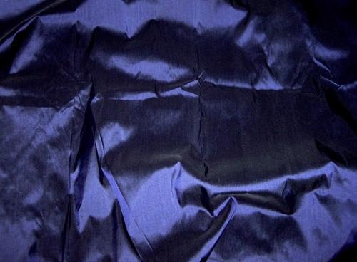 Dark Blue - 100% Authentic Silk Fabric