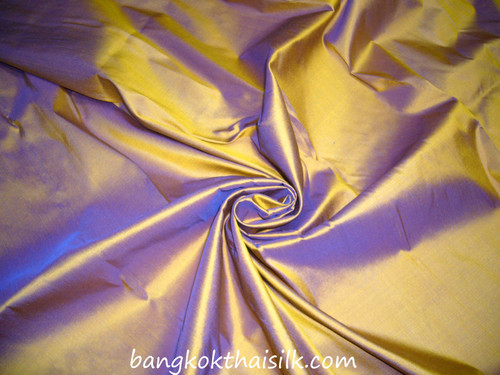 Golden Purple 100% Authentic Silk Fabric