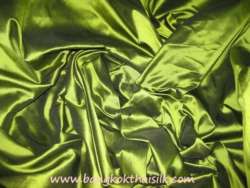 Lime Green 100% Authentic Silk Fabric